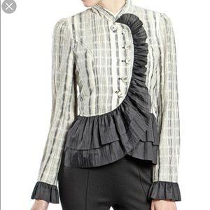 Ryu striped peplum jacket